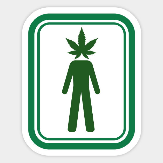 e43cbd8c5 Funny Pothead Bathroom Sign Gift for Men - 420 Legalize Marijuana Weed  Smoker Sticker