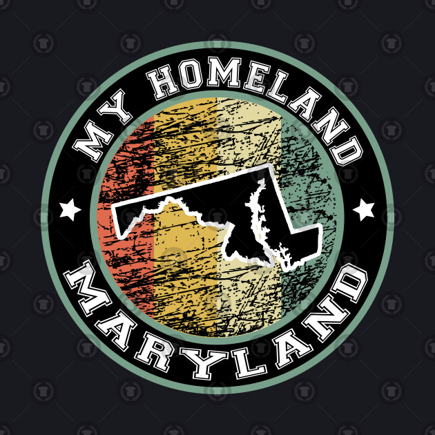 Homeland Maryland state USA vintage