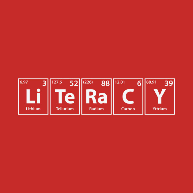 Literacy (Li-Te-Ra-C-Y) Periodic Elements Spelling