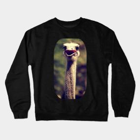 964e9f8b36edf Ostrich Crewneck Sweatshirts   TeePublic