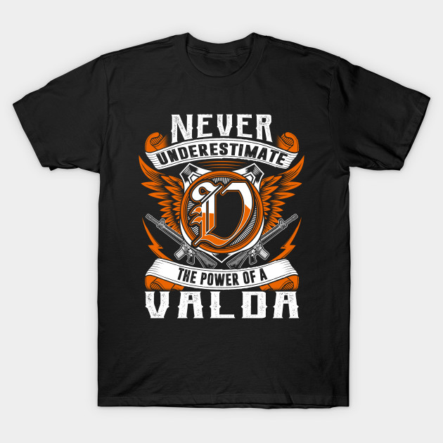 Never Underestimate The Power of Valda Hoodie Black