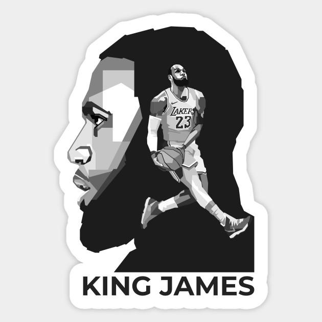 Lebron James Lakers Black White Lebron James Sticker Teepublic Au