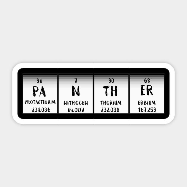 Black panther movie periodic table symbol wakanda warriors t shirt 2440600 0 urtaz Image collections