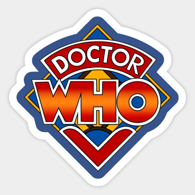 Doctor Who Classic Logo - Doctor Who - Sticker | TeePublic