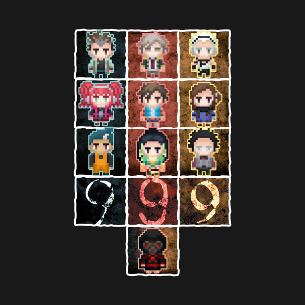 9 sprites 9 persons 9 pixels