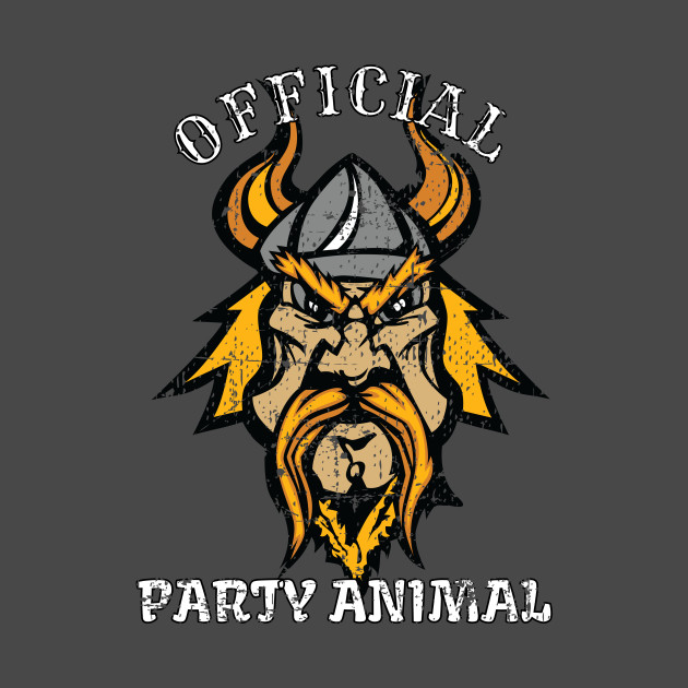 Official Party Animal Viking Funny Vikings T Shirt Teepublic