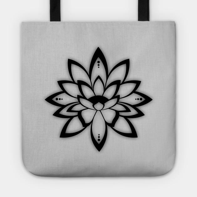 Lotus Flower Symbol Hinduism Tote Teepublic