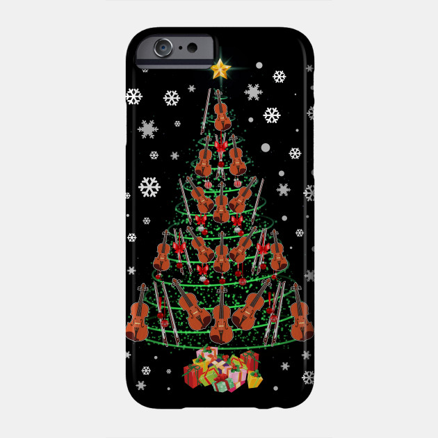 Cello Christmas Tree Merry Christmas Lights Funny Music Xmas Phone Case