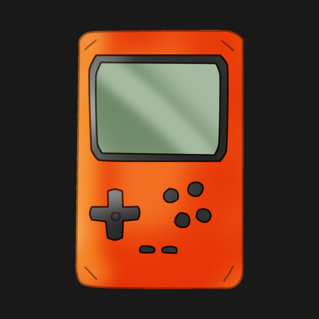 Retro Gamer Design 90s Handheld Console In Orange