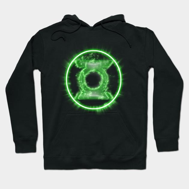 Green Lantern Full Power Symbol Dc Comics Green Lantern Hoodie