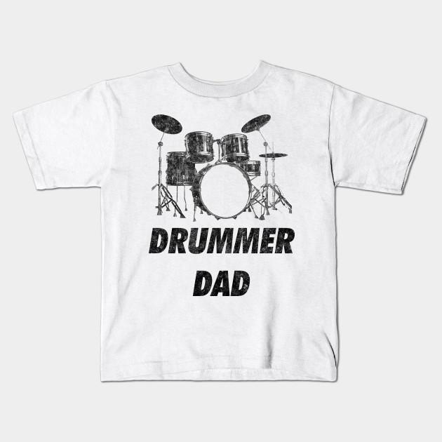 92e2c089 Drummer Dad Funny Drums Vintage Drumming Distressed - Drummer Dad ...