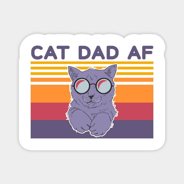 Cat Dad Af Glasses Vintage