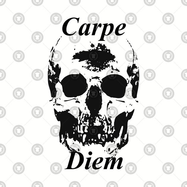Gothic Skull Carpe Diem Seize The Day