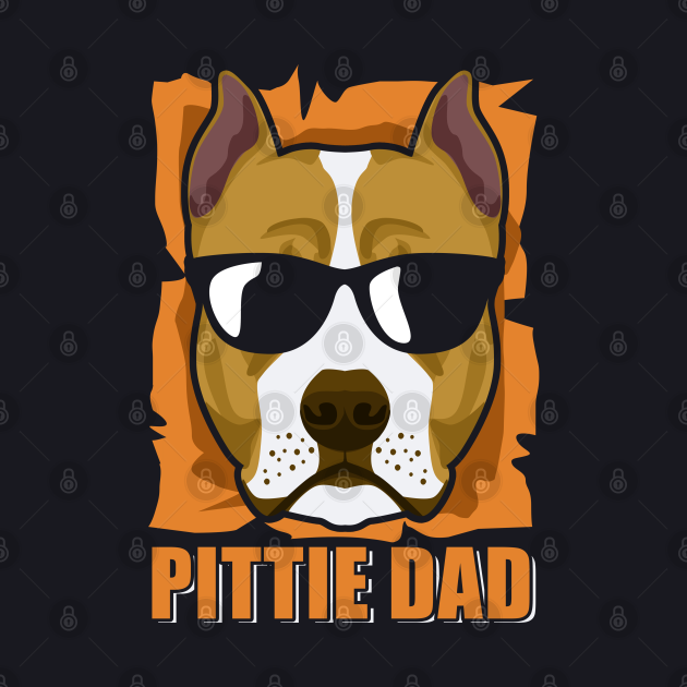 Pittie Dad   American Pit Bull Terrier Owner Gift