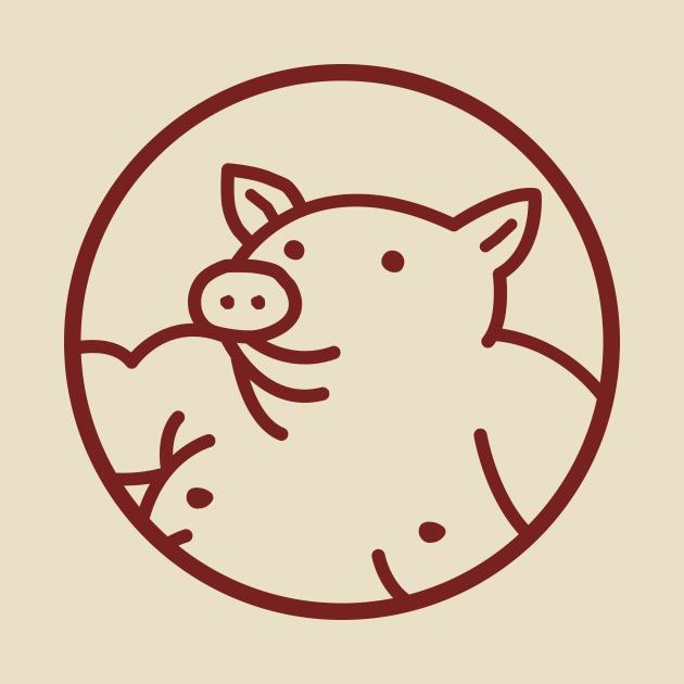 Yabaton pig logo (red)