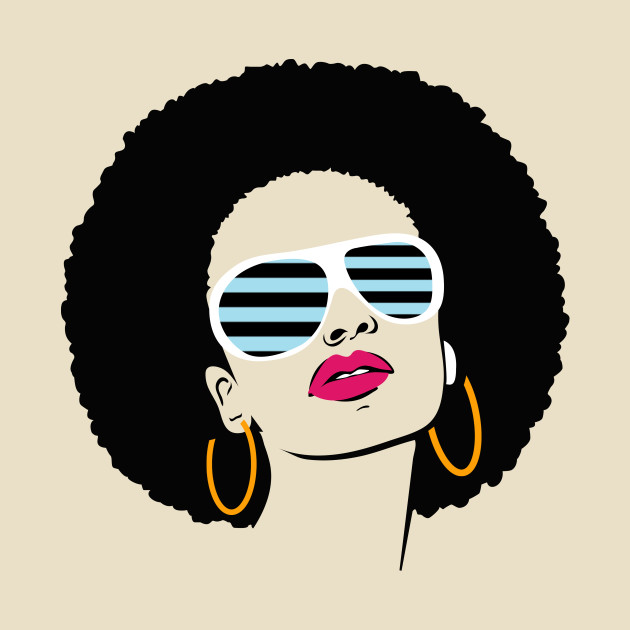 African American Afro Women Birthday Gift Idea
