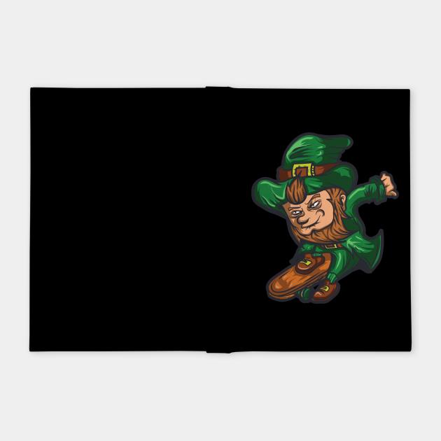 Leprechaun Skateboard T Shirt St. Patrick's Day Irish Clover