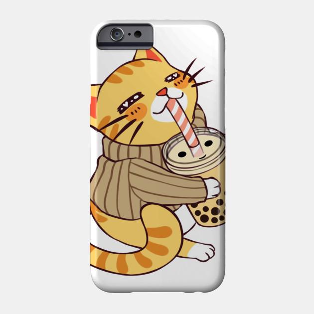 Kitty Cat Loves Bubble Tea 61 Kitty Cat Loves Bubble Tea 61 Phone Case Teepublic