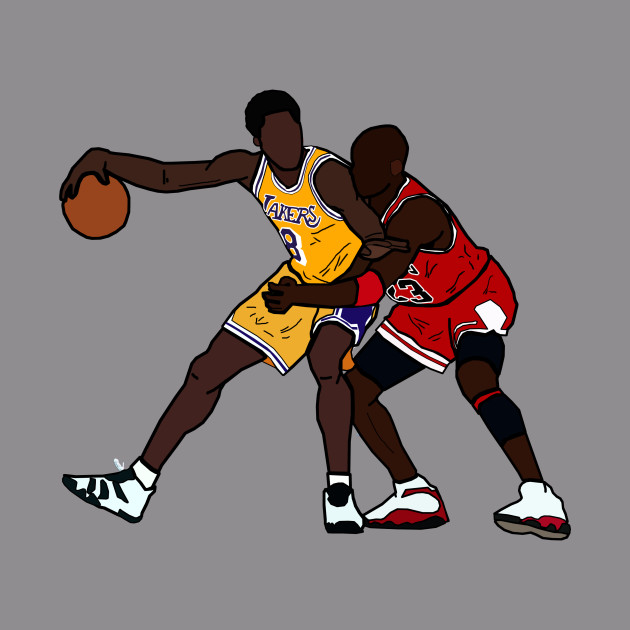 a4db8e60d9bb ... Kobe Bryant VS Michael Jordan GOAT - Los Angeles Lakers Chicago Bulls