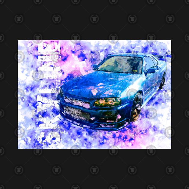 Nissan Skyline - Watercolour