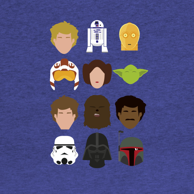 Star Wars Minimalism - Collected Characters