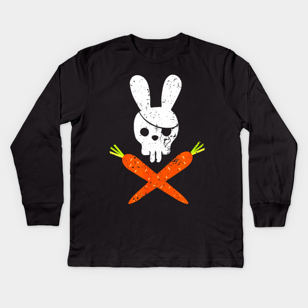 b7410675a0 Funny Rabbit Shirt Pirate Easter TShirt for Boy and Girl.png Kids Long  Sleeve T-Shirt