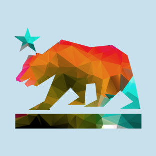 California State Bear Fractal Colors T Shirt
