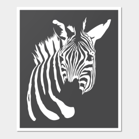 Zebra Negative Space T Shirt Wall Art