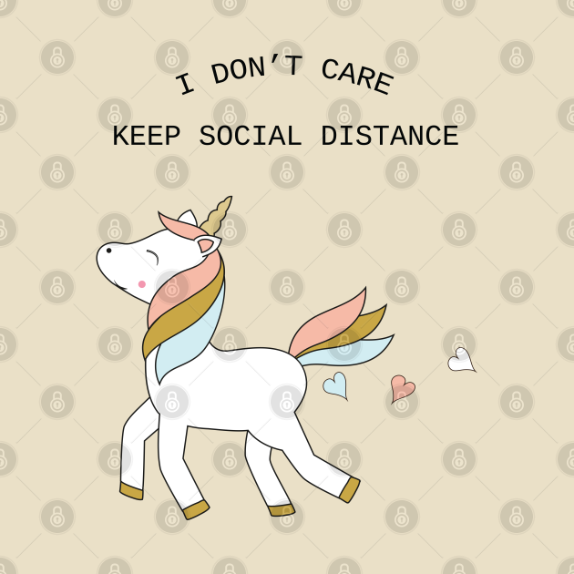 Unicorn - keep social distance - black text