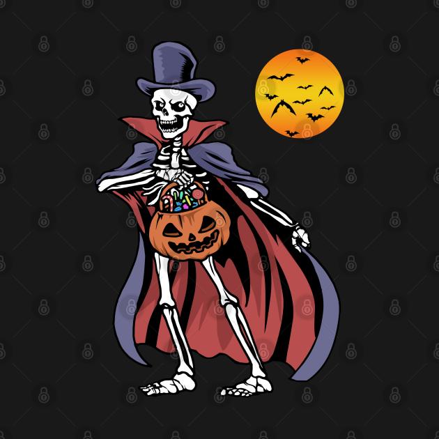 Halloween Vampire Tshirt Pumpkin Scary Costume Skeleton Vampire