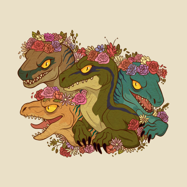 Clever Girl Blue: Raptor Babes - Mashup - T-Shirt