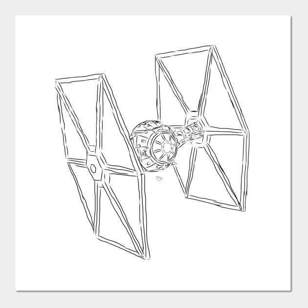 Star Wars TIE Fighter - Star Wars - Posters and Art Prints ...