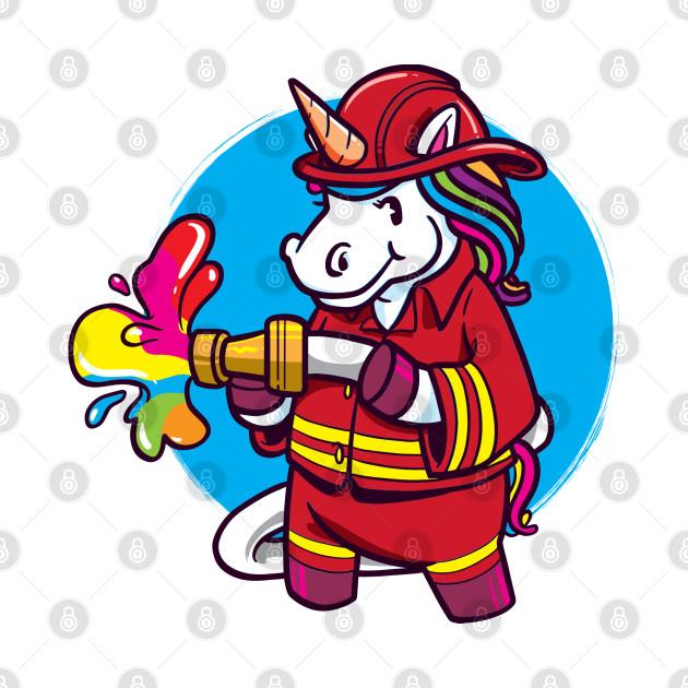 Unicorn Brigade Mythical Creature Unicorn Colourful Fireman For Little Guy