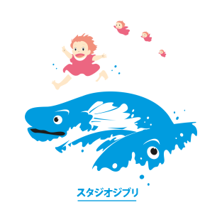 Ponyo and the sea t-shirts