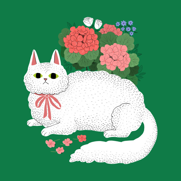 Fancy White Cat