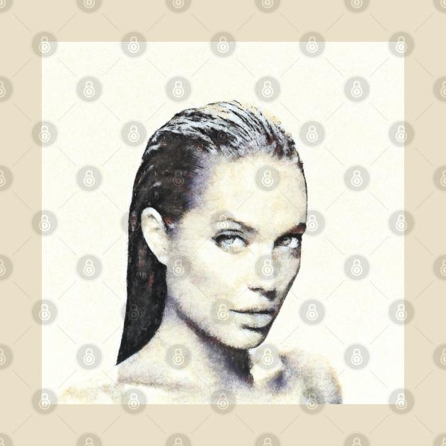 Portrait of Angelina Jolie