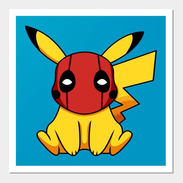 1c3176f2 Pikapool Pikachu Deadpool Mashup Pokemon Detective Pikachu Posters and Art  Prints
