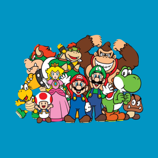 Mario and friends t-shirts