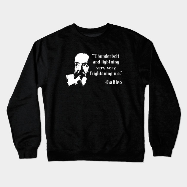 44cf1bd0b Thunderbolt and Lightning Galileo Bohemian Rhapsody Crewneck Sweatshirt