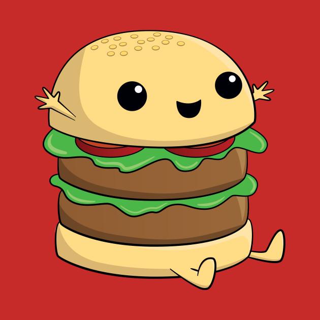 Cute Kawaii Cartoon Burger