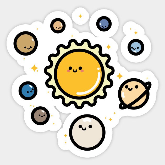 Cute Planets Solar System Sticker Teepublic