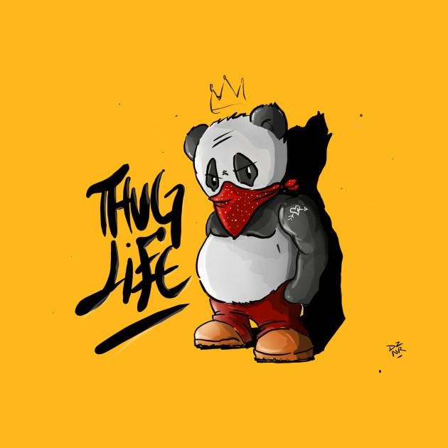 Thug Panda Panda Bear T Shirt Teepublic