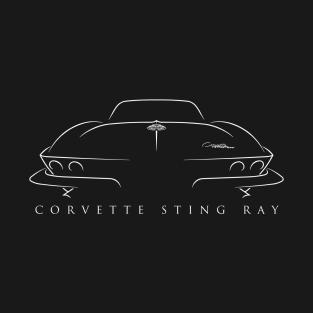 C2 Chevy Corvette Sting Ray - Stencil t-shirts