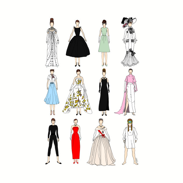 Outfits of Audrey Hepburn Fashion