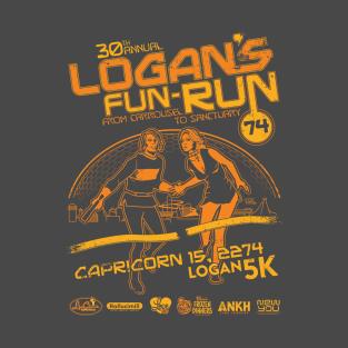 Logan's Fun-Run from Carrousel to Sanctuary t-shirts