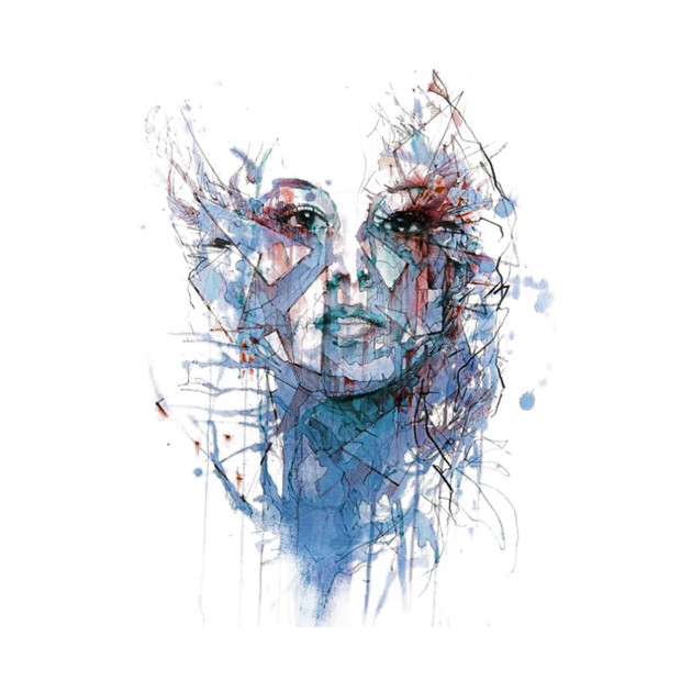 women face design watercolor