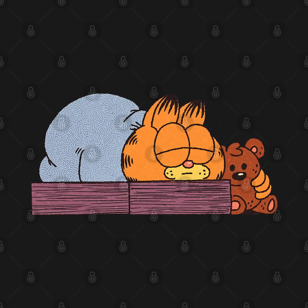 garfield Sleeping cute