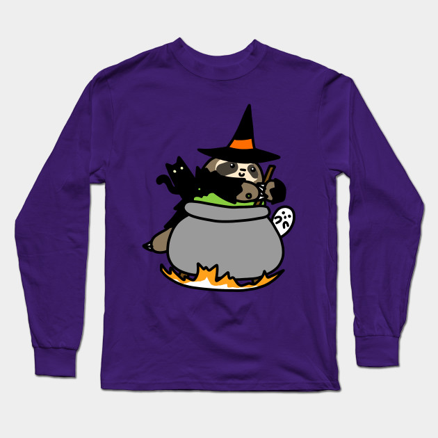 Witch Cauldron Sloth Long Sleeve T-Shirt