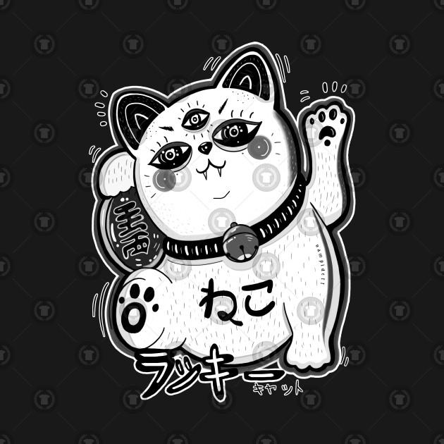 lucky cat - manekineko BLAVK