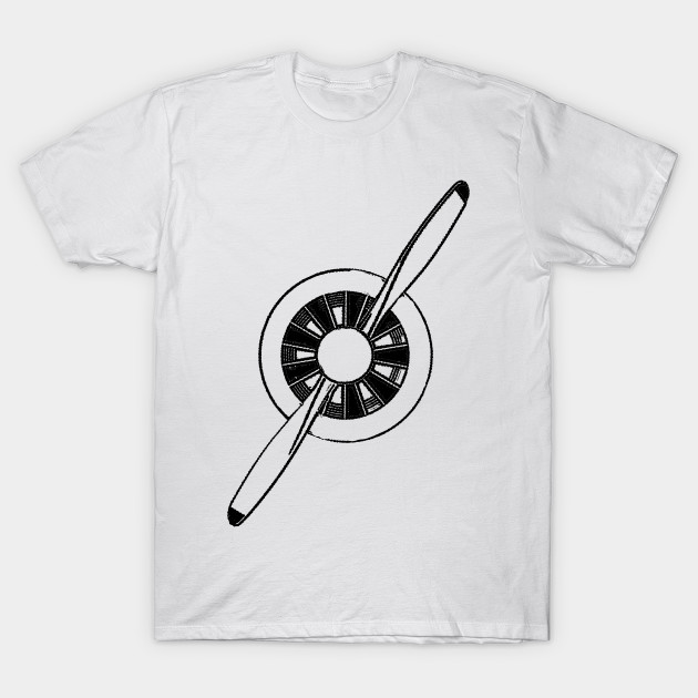 b71e0f7cce Airplane Propeller General Aviation Aviation T Shirt Teepublic
